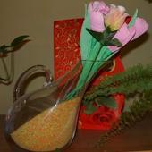Tulipanki z róża