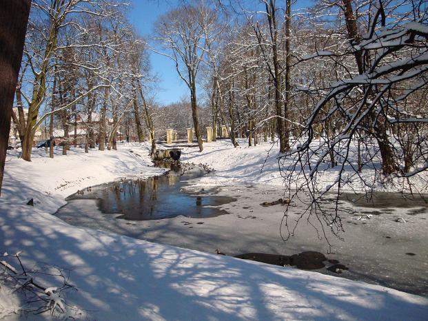 Park w Mińsku-Maz. - pożegnanie z zimą