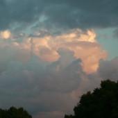 Chmury po zachodzie słońca