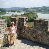 Na zamku Tropsztyn, widok na Dunajec