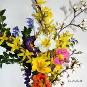 Bukiecik wiosennych kwiatów.