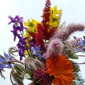 Bukiecik z kwiatów ogrodowych