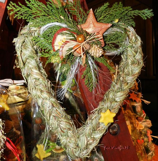 Serduszko,stroik świąteczny