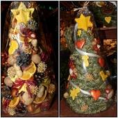 Stroik świąteczny w kształcie choinki