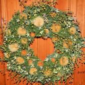 Świąteczne ozdoby -wianki na drzwi