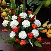 Kwiaty z warzyw.