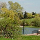 w parku wiosną