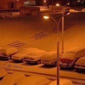 zima nocą