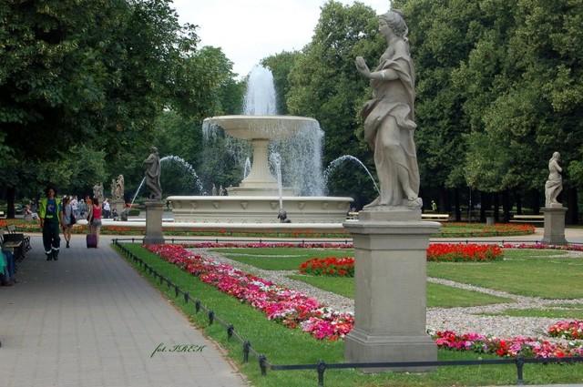 pomniki w parku