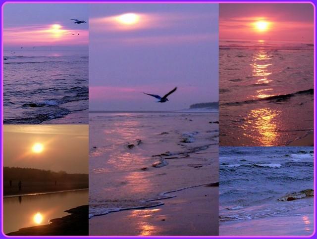 Morskie wschody słońca