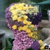 gorset kwiatowy