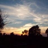 sierpniowy zachód słońca