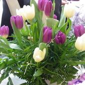 kwiaty stołowe :)