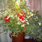 bukiet od męża na rocznicę ślubu -zawsze polne kwiaty