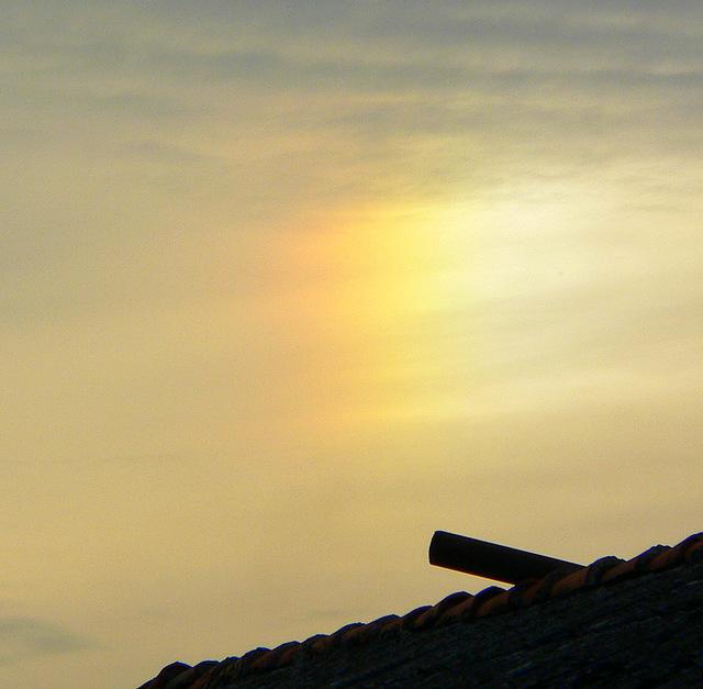 Efekt świetlny na niebie (na urokliwe sny)