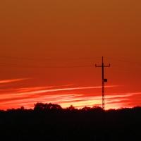 Dzisiejszy zachód słońca.