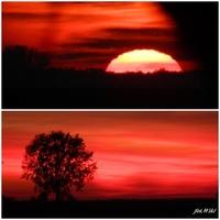 Dzisiejszy zachód słońca.....