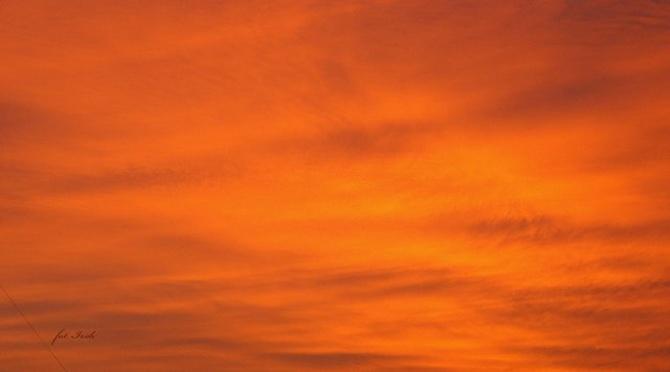 Pomarańczowy zachód słońca