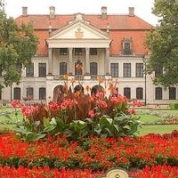 Kwiaty przed Pałacem w Kozłówce