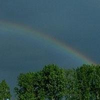 Wiosenna burza z tęczą:)