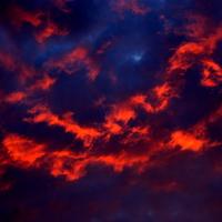 Chmury po zach. słońca.