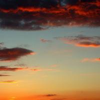 Zachód słońca na Mazowszu.