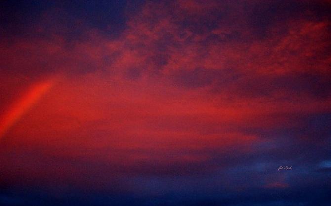 Niebo po zach. słońca w moim mieście