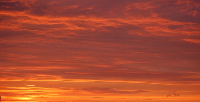 Niebo po zachodzie słońca