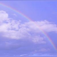 Chwila koloru na deszczowym niebie