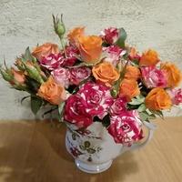 Miniaturowe róże w bukieciku