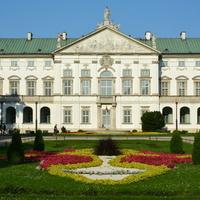 Kwietnik przed Pałacem Krasińskich.