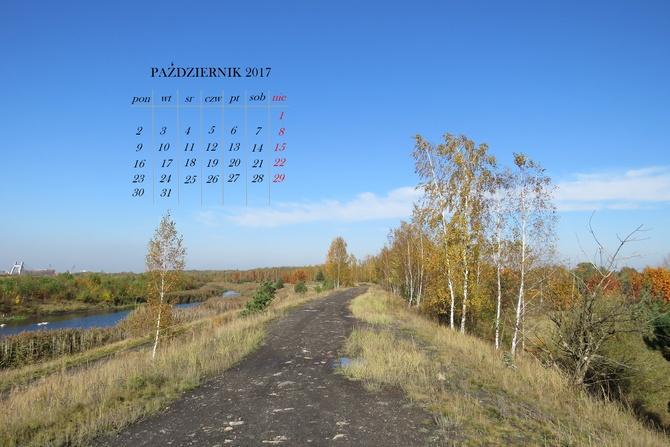 kartka z kalendarza - październik