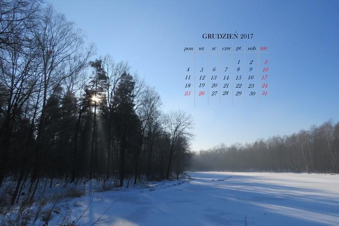 kartka z kalendarza - grudzień