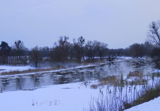 Zima nad Wartą :)