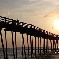 Molo na Outer Banks w Północnej Karolinie