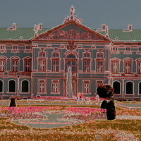Kwiaty przed pałacem