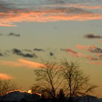 Dzisiejszy zachód słońca w moim mieście