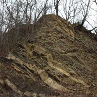W rezewacie geologicznym - piaskowce grodziskie .