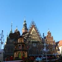Świąteczny wiatrak na Wrocławskim Rynku