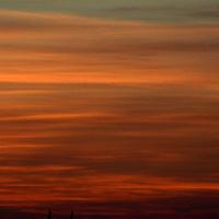 Zachód słońca za miastem