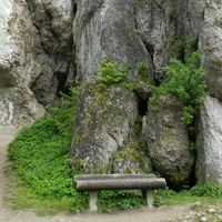 Ojców,skały wapienne
