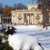 Tak było zimą w Łazienkach Królewskich w 2010 r.