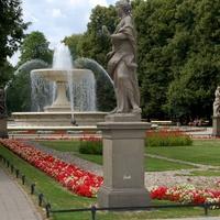 Kwiaty w eleganckim parku w stolicy