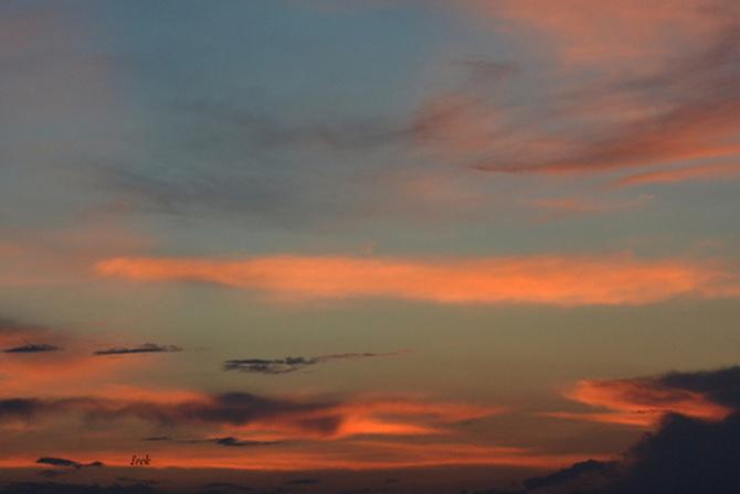Spokojny zachód słońca
