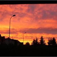 Wczorajszy zachód słońca...