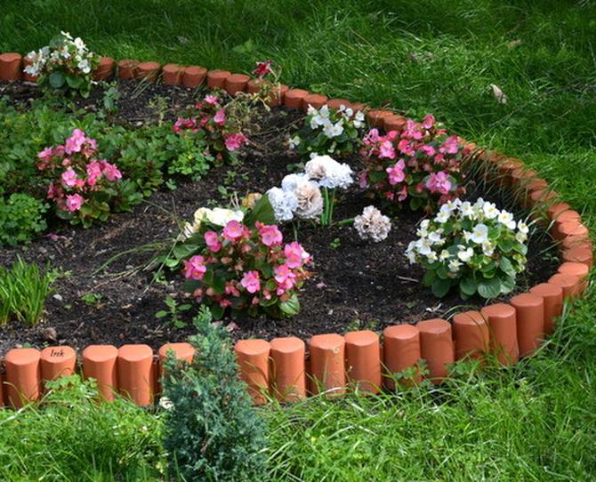 fragment ogródka na moim osiedlu