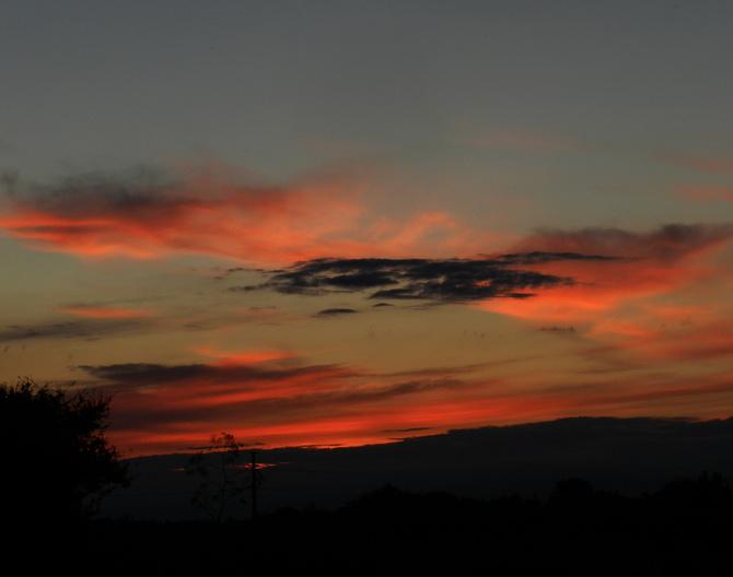 Niebo o zachodzie słońca