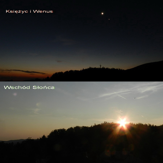 Wschód słońca w Karkonoszach
