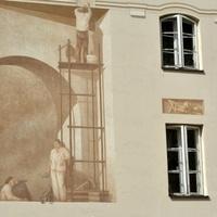 Ściana zewnętrzna pomalowana przez fachowców