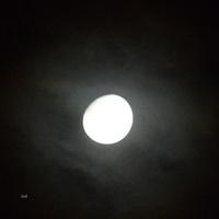 Wczoraj, w środę księżyc bardzo mocno świecił